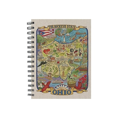 TF Publishing Ohio State Map Soft Journal, 7 x 9, Multicolor (99-OHIO1)