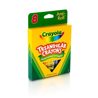 Crayola Triangular Crayons, Assorted Colors, 8/Box (52-4008)