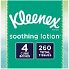 Kleenex Lotion Facial Tissue, 2-Ply, 75 Sheets/Box, 4 Boxes/Pack (25834)