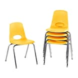 Factory Direct Partners Stack Plastic School Chair Set, Yellow (10371-YE)