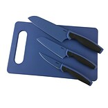 Oster 4pc Cutlery Cutting Board Knife Set in Charcoal (93597264M)