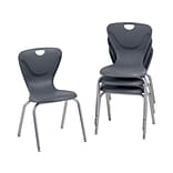 Factory Direct Partners Contour Plastic School Chair, Gray (10376-GY)