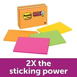 Post-it® Super Sticky Meeting Notes, 6 x 4, Rio De Janeiro Collection, 8/Pads (6445-SSP)