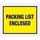 Tape Logic® Packing List Enclosed Envelopes, 10 x 12, Yellow, 500/Case (PL428)