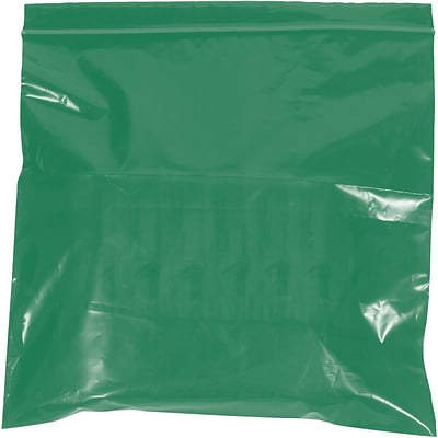 Reclosable Poly Bags, 2 Mil, 6 x 9, Green, 1000/Case (PB3615G)