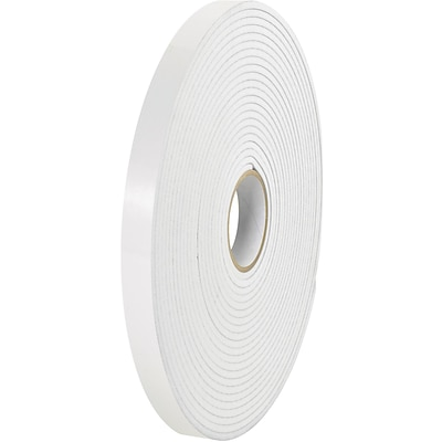 Tape Logic Removable Double Sided Foam Tape, 1/16 Thick, 1/2 x 36 yds., White, 24/Case (T953590)