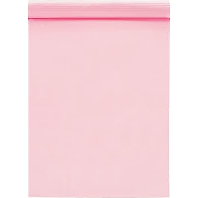 Anti-Static 2 Mil Reclosable Poly Bags, 9 x 12, Pink, 1000/Case  (PBAS735)