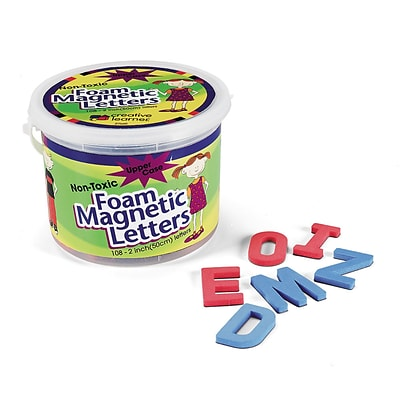 Pacon Foam Magnetic Uppercase Letters, Blue Consonants, Red Vowels, 108/Set (PAC27560)