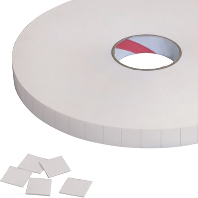 Tape Logic Removable Double Sided Foam Squares, 1/32 Thick, 3/4 x 3/4, White, 864/Roll (T95228)