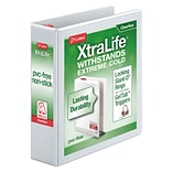 Cardinal® XtraLife® ClearVue™ 2 3-Ring View Binder, White (26320)