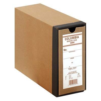 Globe-Weis® Columbia™ Binding Cases, Letter - Regular Arch, Brown, 8 1/2H x 11W, 1/Ea
