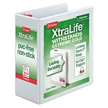 Cardinal® XtraLife® ClearVue™ 4 3-Ring View Binder, White (26340)