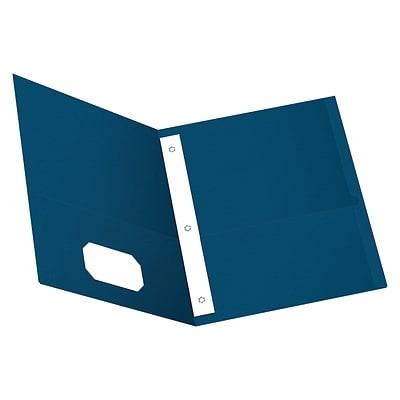 25//Box Assorted Colors Tang Fastener 1//2 Capacity Two-Pocket Portfolio