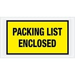 Tape Logic® Packing List Enclosed Envelopes, 5 1/2 x 10, Yellow, 1000/Case (PL425)