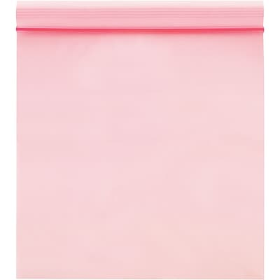 Anti-Static 4 Mil Reclosable Poly Bags, 18 x 20, Pink, 250/Case  (PBAS2200)