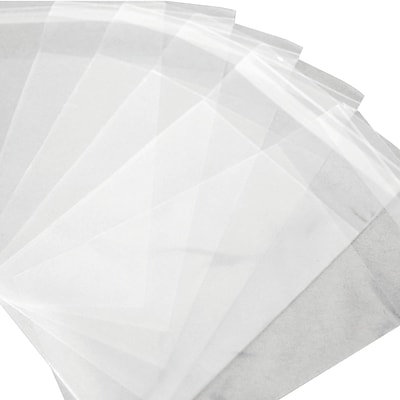 Resealable Polypropylene Bags 1.5 Mil, 4 1/8 x 9 1/2, Clear, 1000/Case  (PBR109)