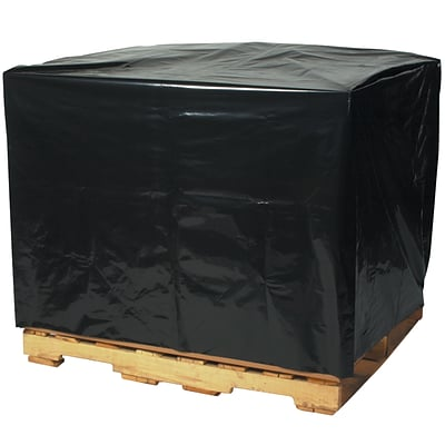Pallet Covers, 3 Mil, 68 x 65 x 82, Black, 50/Case  (PC554)