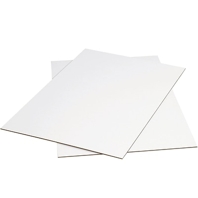 Partners Brand White Corrugated Sheets, 40 x 40, White, 5/Bundle (SP4040W)