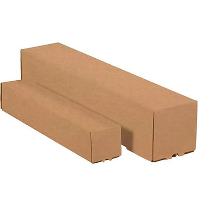 Square Mailing Tubes, 5 x 5 x 37, Kraft, 25/Bundle  (M5537K)