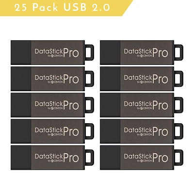 Centon MP Valuepack USB 2.0 Pro Flash Drive; Grey, 4GB, 25/Pack