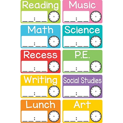 Magnetic Schedule Cards for Grades PreK+, 10 Cards/Pack (TOP10448)