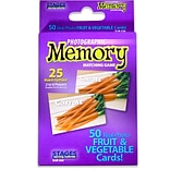 Stages Learning Materials Photographic Memory Matching Game, Fruit & Vegetables, Grades PreK+ (SLM22
