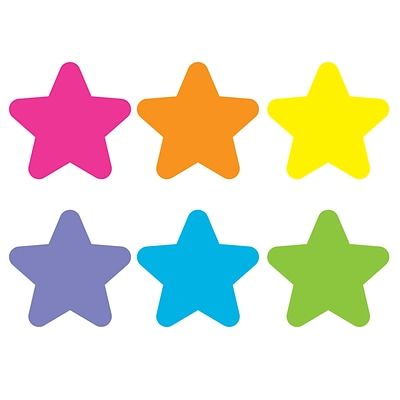 Teacher Created Resources Spot On Bright Stars Plastic Carpet Markers, Assorted Colors, 6/Pack (TCR77002)