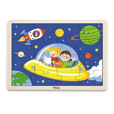The Original Toy Co. Space Classic Puzzle, Ages 24 Months+ (OTC51457)