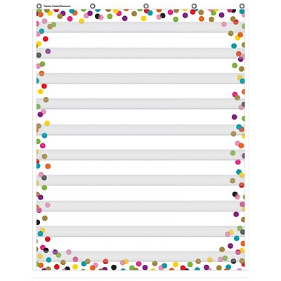 Teacher Created Resources Confetti 10 Pocket Chart, 34 x 44 (TCR20328)