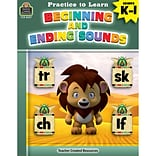 Teacher Created Resources Practice to Learn: Beginning and Ending Sounds, Grades K–1 (TCR8207)