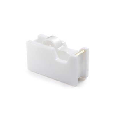 Insten Desktop Acrylic Tape Dispenser with Tape (1 Core) - White/Gold (4.76 x 1.81 x 2.59)
