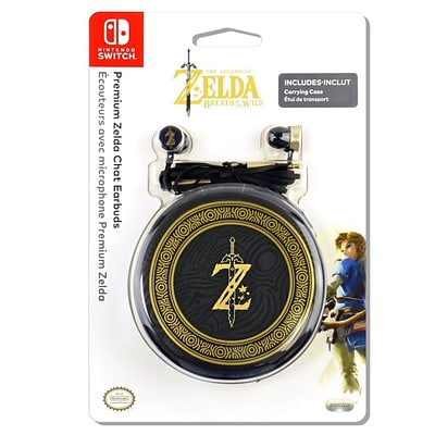 PDP Premium Chat Earbuds with Carrying Case for Nintendo Switch (Zelda Edition)