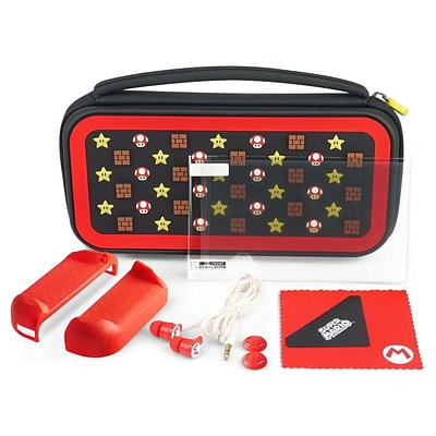 PDP Premium Starter Kit Travel Case for Nintendo Switch (Mario Icon  Edition)