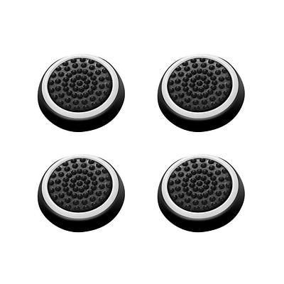 Insten 4pcs Black/White Silicone Thumbstick Grips Caps Analog for Xbox 360 Xbox One Sony PlayStation 2 3 4 Controller