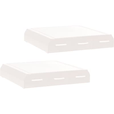 Mind Reader Monitor Stands, White, 2/Pack (2MONSTA3D-WHT)