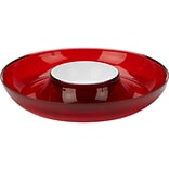 Mind Reader 2.25H x 13Dia. Chips and Dip Bowl Set, Red (DIPCHIP-RED)