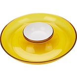 Mind Reader 2.25H x 13Dia. Chips and Dip Bowl Set, Yellow (DIPCHIP-YLW)