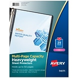 Avery Heavy-Weight Sheet Protectors, 8.5 x 11, Diamond Clear, 25/Pack (74171)