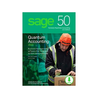 Sage 50 Quantum Accounting 2020 for 5 Users, Windows, Download (PTQ52020ESDCSRT)