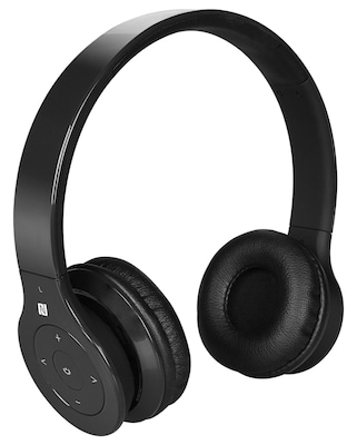 Alpha Digital BH 530 B Bluetooth Headphone with Soft Fit Ear Covers and Built In Microphone (Black)