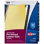 Avery Preprinted Monthly Leather Dividers, 12-Tab, Yellow (11351)