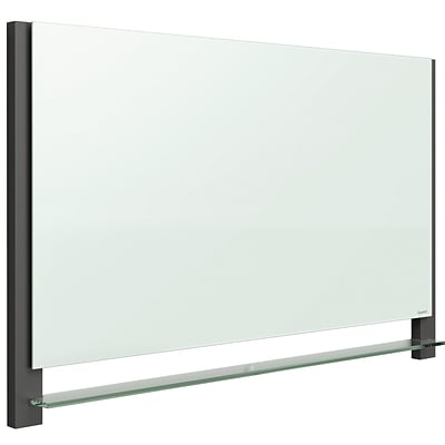 Quartet® Evoque™ Magnetic Glass Dry-Erase Boards with Invisible Mount, Wide Format, 39W x 22H, Black Aluminum Frame (G3922BA)