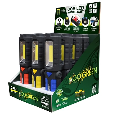 GoGreen Power Magnetic LED Worklight Display, Assorted Colors - GG-113-WLDISP