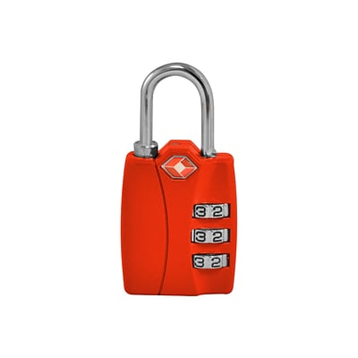 Travergo 3 Digit Combination Lock, Red TR1120RD