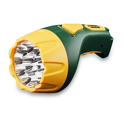 GoGreen Power 15 LED Rechargeable Flashlight, Green - GG-113-15RC