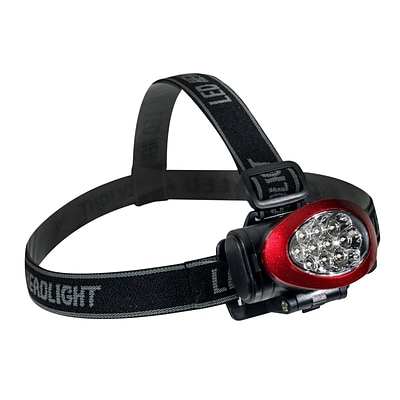 GoGreen Power 10 LED Head light with Strobe, Red - GG-113-10HLRD