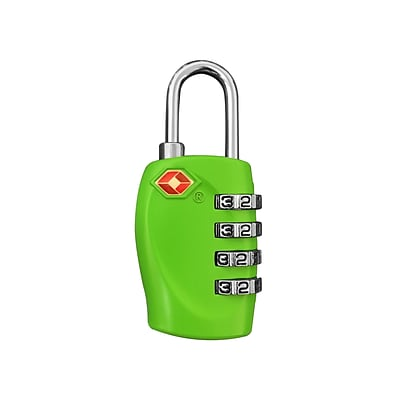 Travergo 4-Digit Combination Lock, Green TR1140GN