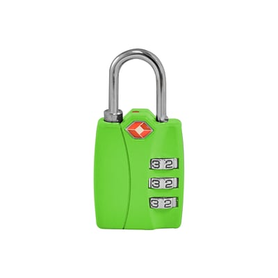 Travergo 3 Digit Combination Lock, Green TR1120GN
