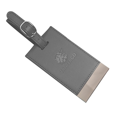 Travergo Magnetic Luggage Tag 2pk, Gray TR1260GY