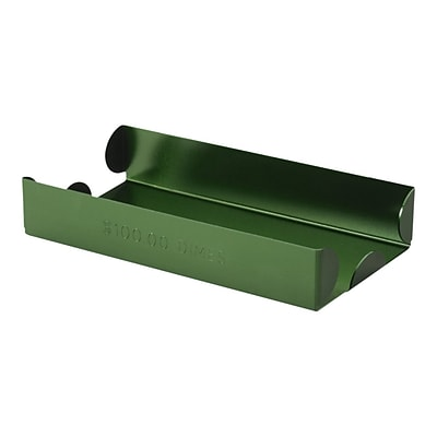 CONTROLTEK Coin Tray, 1 Compartment, Green (560067)